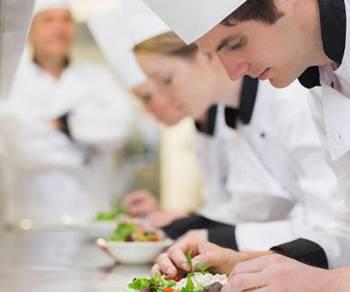 Factory kitchen chef