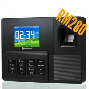 Fingerprint time attendance punch card realand