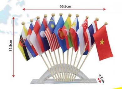 Table Flag Asean - 11 Countries