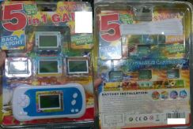 5 in 1 Digital Pocket Games (Mainan Komputer)