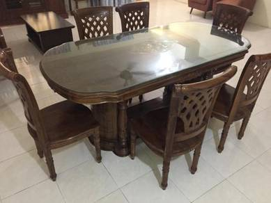 Jati Dining Table with Chairs