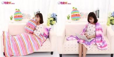 5 in 1 Multipurpose Cartoon Pillow Blanket
