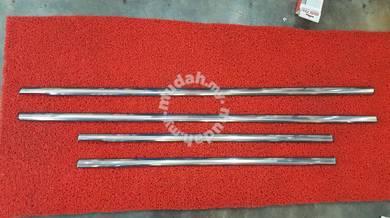 Satria neo chrome window door trim belt moulding