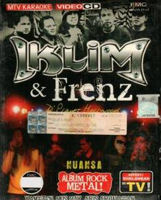 VCD IKLIM & Frenz Nuasa Album Rock Metal VCD