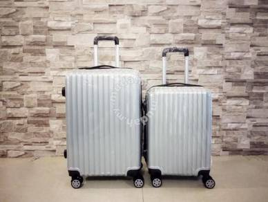 Grey colour abs travel luggage bag 1set (20
