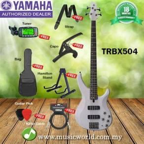 Yamaha bass guitar trbx504wht