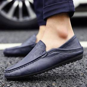 S0224 Dark Blue Loafer Casual Slip On Kasut Shoes