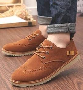 S0225 England Classic Style Brown Men Kasut Shoes