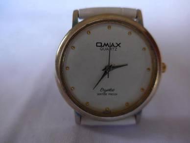Omax Quartz White Round Dial Watch