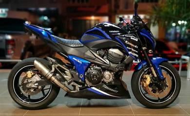 Kawasaki Z800 Blue Razor z8 2013 fully loaded