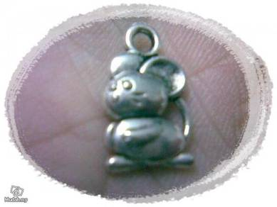 ABPSM-M004 Silver Mice Mouse Pendant Necklace
