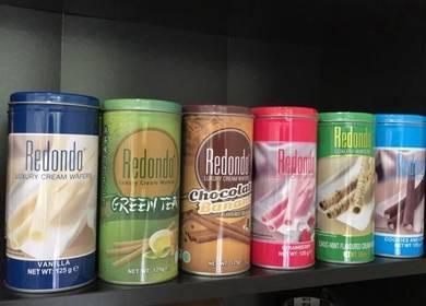 5 can redondo cream wafers roll 03