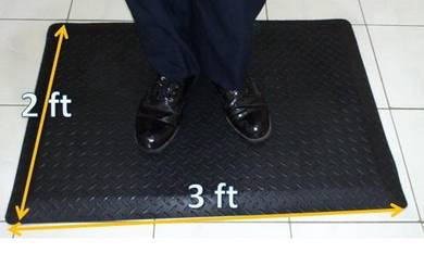 ESD Anti Fatigue Mat 2ft x 3ft , All Black