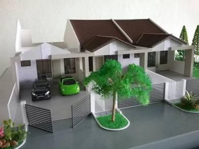 Projek Teres 1 Tingkat Mampu Milik RM170K Tanah Merah - Booking RM1000