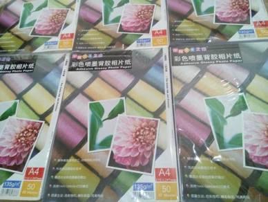 A4 Glossy Inkjet Sticker Paper (50pcs)