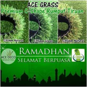 Promo SALE Artificial Grass C-Shape Rumput Tiruan