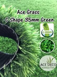 Pemborong C35mm GRN Artificial Grass Rumput Tiruan