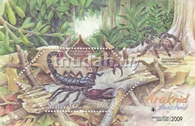 Miniature Sheet Black Scorpion Malaysia 2009