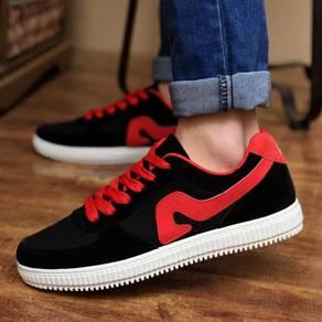 S0244 Black Trendy Sneakers Smart Men Kasut Shoes