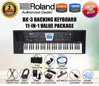 ROLAND BK-3 Keyboard Piano Value Package