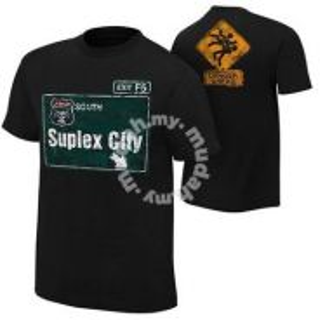WWE WWF T Shirt (Brock Lesnar Suplex City) Baju