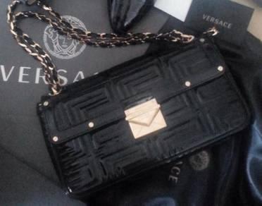 VERSACE handbag Sling Bag Beg Tangan MADE IN ITALY