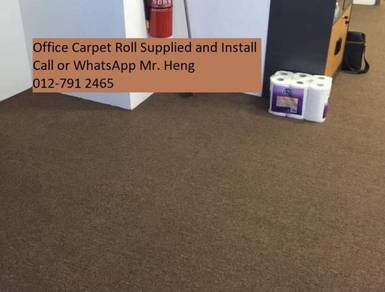 Modern Plain Design Carpet Roll With Install 56fgt
