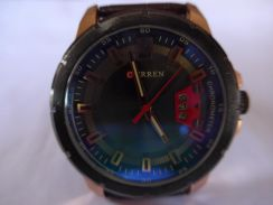Curren Quartz Large Round Brown Dial Watch