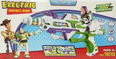 Toy electric impact gun - buzz lightyear - action