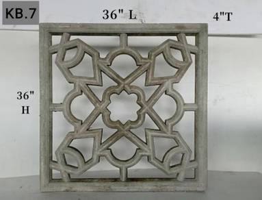 Batu Bunga Pagar Konkrit/Decorative Venting
