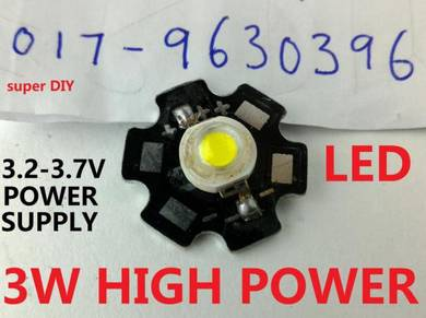 High Power 3W LED Chip Diode Lamp white 3.0V-3.7V