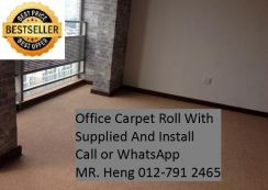 Classic Plain Design Carpet Roll with Install 13TL