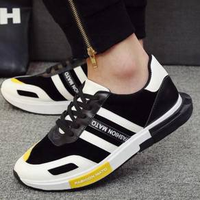 S0249 Mixed Sneaker Black White Casual Sport Shoes