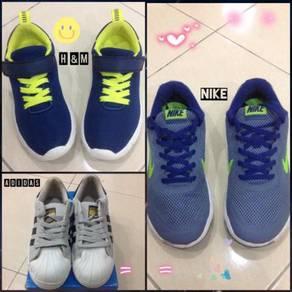 Kasut Sukan Nike & Casual H&M & Adidas