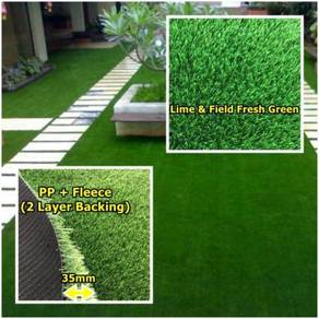 U35mm Green Artificial Grass Rumput Tiruan