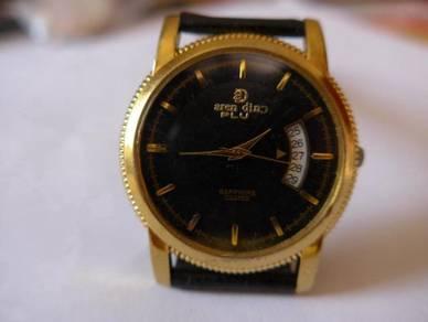 Aren Dino Plus Round Black Dial Watch