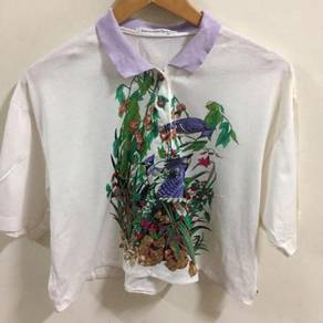 Vintage San Marino Sports Crops Tops Polo Shirt M