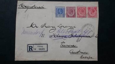 Cover Penang AUSTRIA 1921 No 2196 RARE