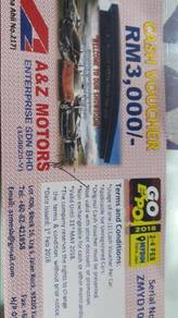 Cash voucher worth rm3000 to sell
