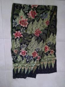 Batik shawl with beads.