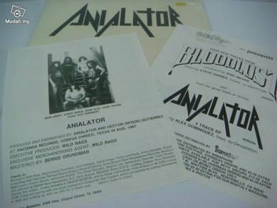 Anialator 1988 Wild Rags Records USA LP