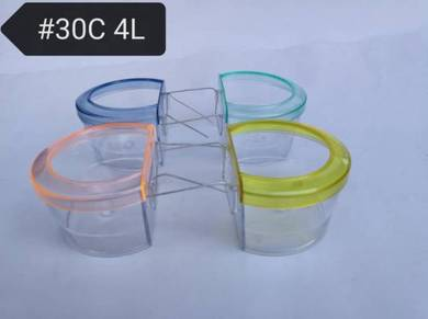 30C4L Bird Feed Food Water Cups 144x Burung Bekas