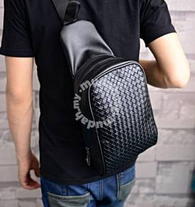 Men's Trend Woven Chest Pack Bag Casual Backpack