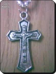 ABPSM-C002 Silver Metal Crucifix Pendant Necklace