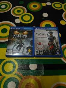 Game ps vita=killzone & assasin creed 3