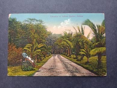 Antik Postcard Johore Garden No 2478
