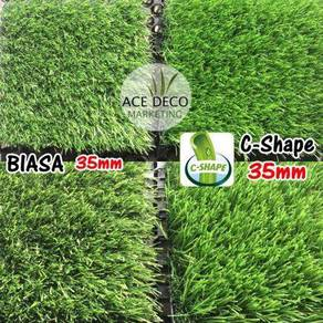 Top C-Shape Artificial Grass Rumput Tiruan Premium