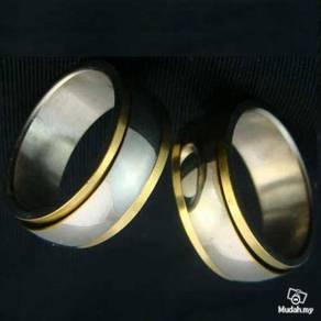 ABRSS-D008 Decent Silver Gold 2 Layer Spin Ring 65