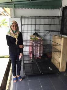Sangkar kucing \ Cat cage (4 tingkat)