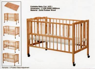 Foldable Solid Wood Baby Cot